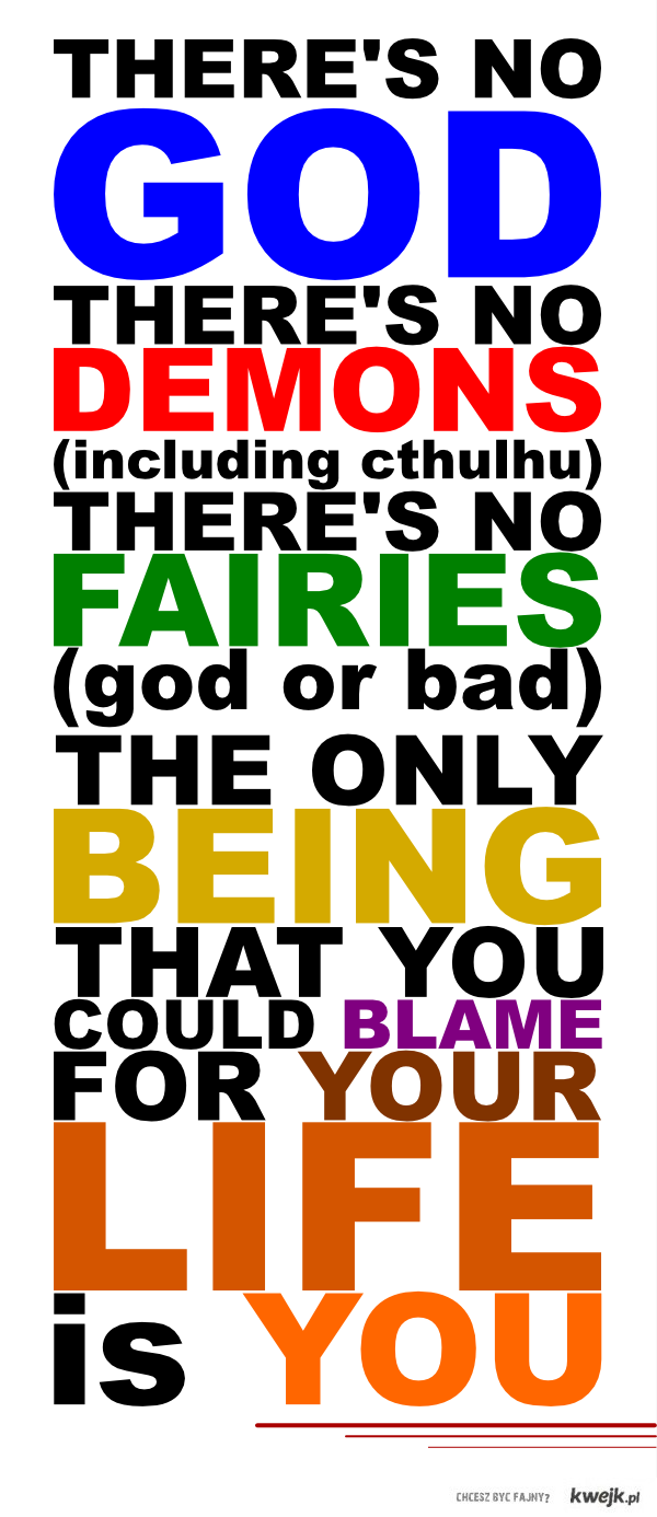 No God. No Demons. No Fairies.