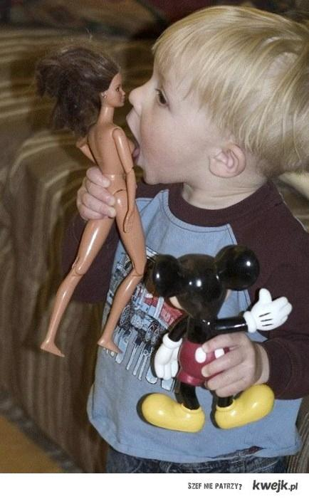 don't let boys play with Barbies