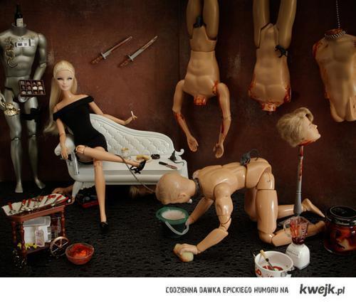 barbie is upset with men