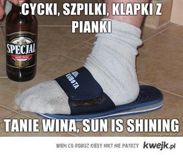 sun is shining cycki klapki szpilki