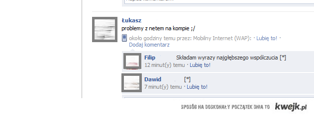 współczucie na facebooku