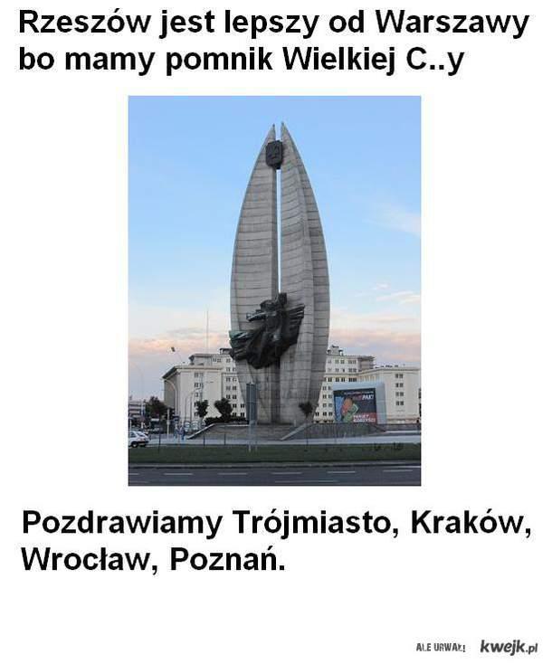 Rzeszów jest lepszy od Warszawy