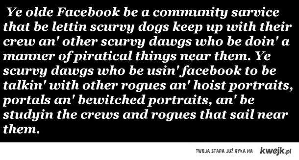 Facebook po Piracku