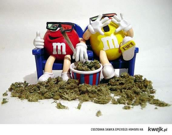 m&m's  smoking weed