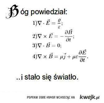 Fizyka, panie, fizyka...