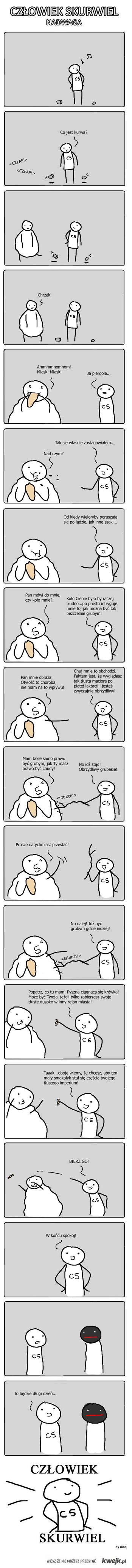 Człowiek skurwiel nadwaga