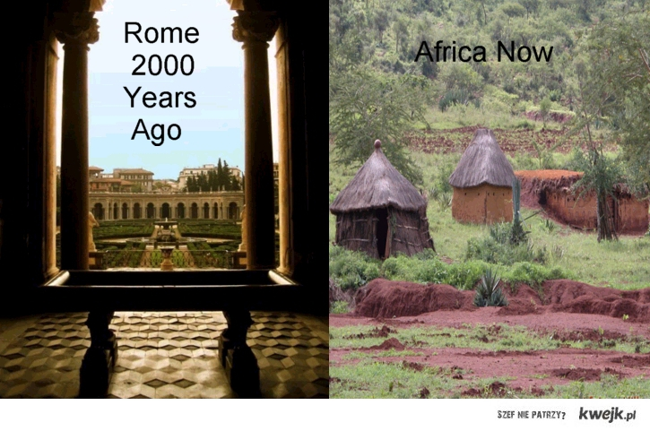 Rzym 2000 lat temu i Afryka teraz