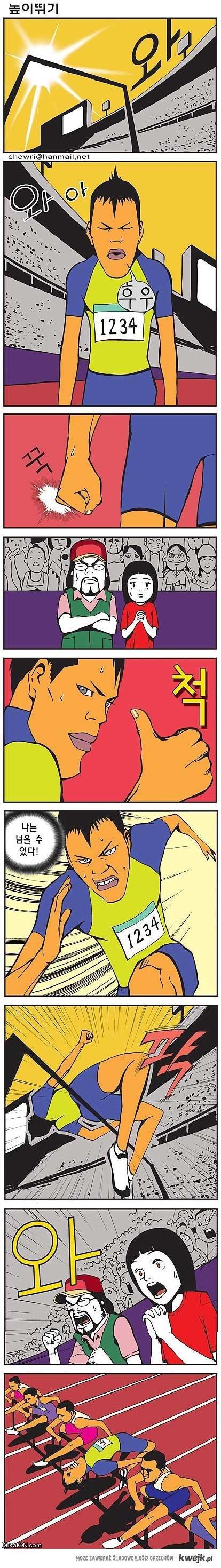 bieg przez płotki komiks