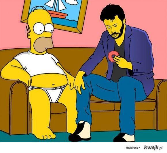 Homer & Keanu