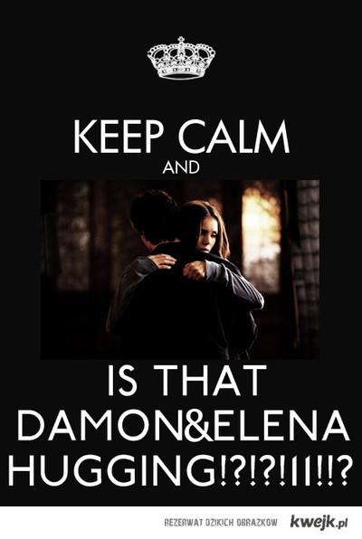 damon i elena keep calm