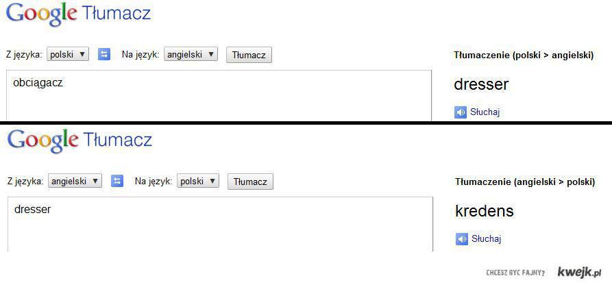 Google Translator.. Czasami zawodzi..