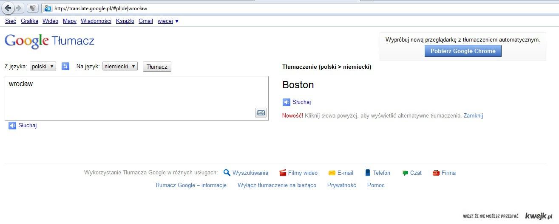 Wrocław - Boston