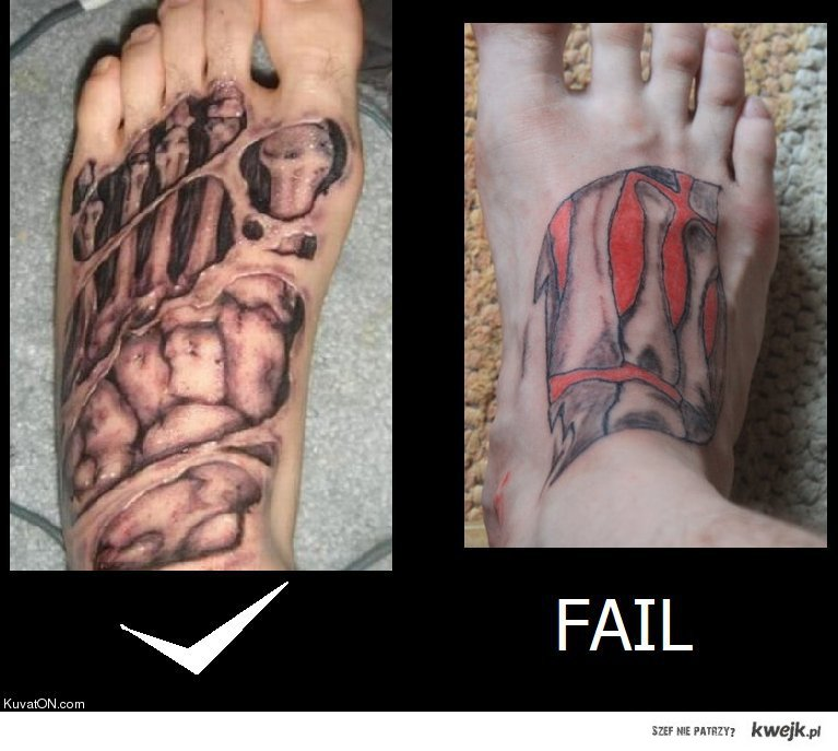 Nożny tatuaz