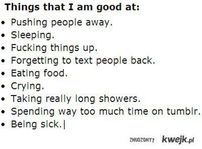 things tkat I am good at