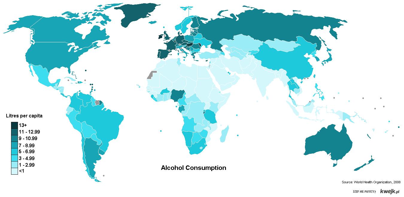 ile pija na swiecie