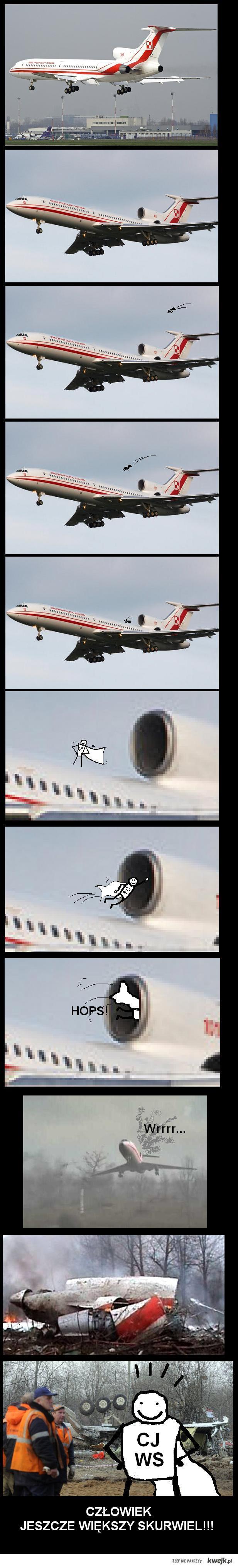 człowiek jeszcze większy skurwiel i ostatni lot