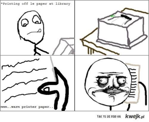 warm printer paper
