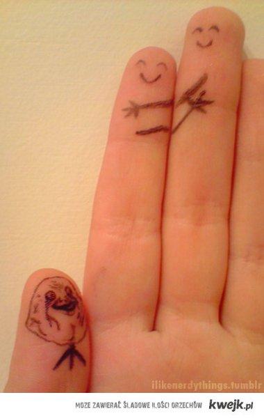 Forever alone finger