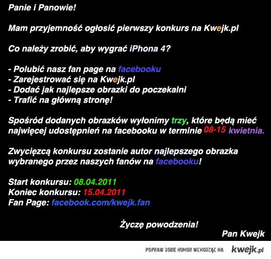 Info o konkursie na kwejk.pl