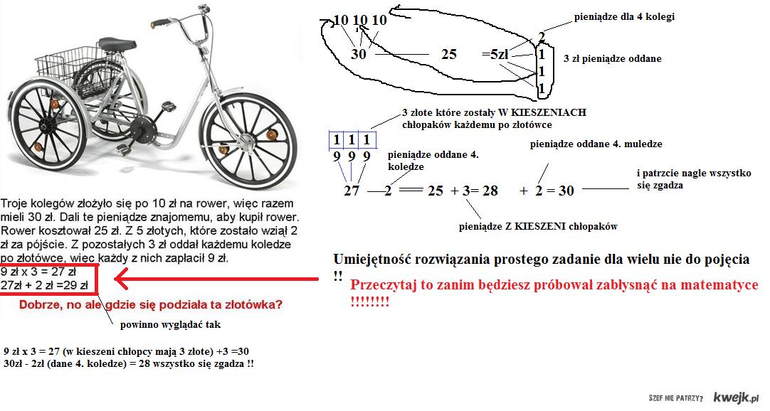 Zadanie o rowerku rozwiązane !!