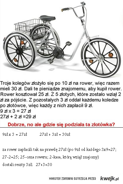"""Rozwiązanie """"roweru"""""""