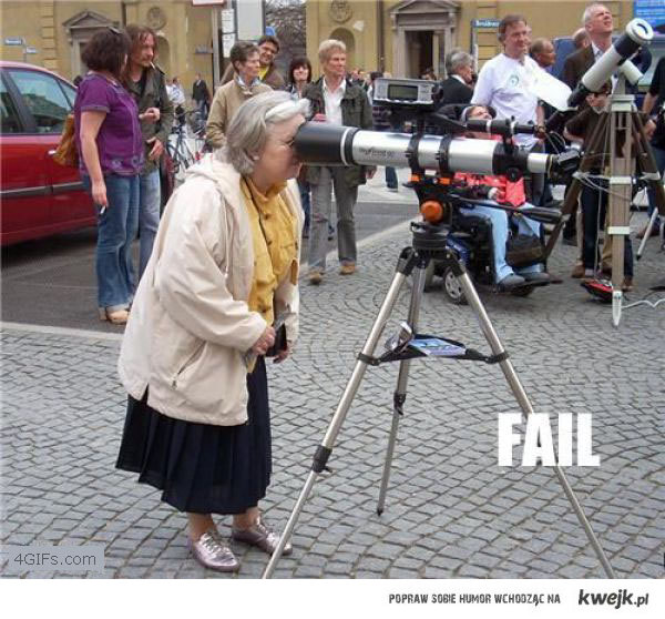 babcia i teleskop