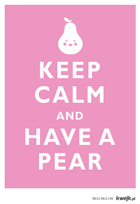 have a pear !