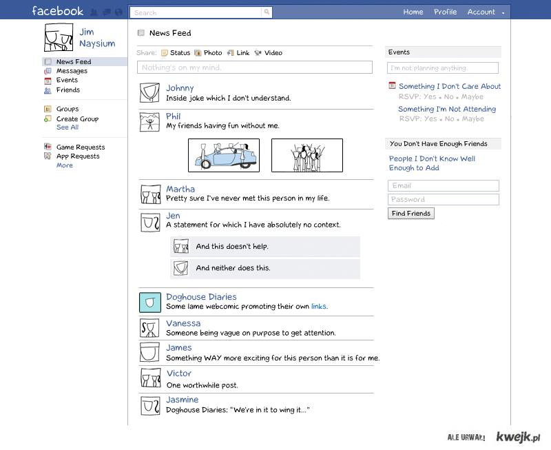 Jak widzimy facebook'a?
