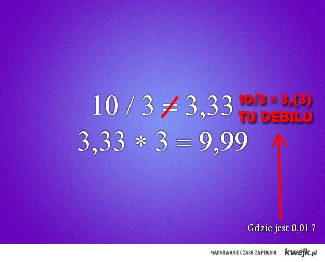 3,33 != 3,(3)