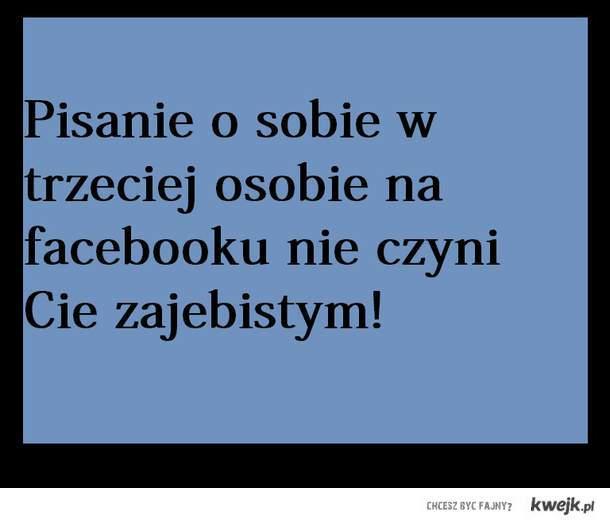W trzeciej osobie facebook