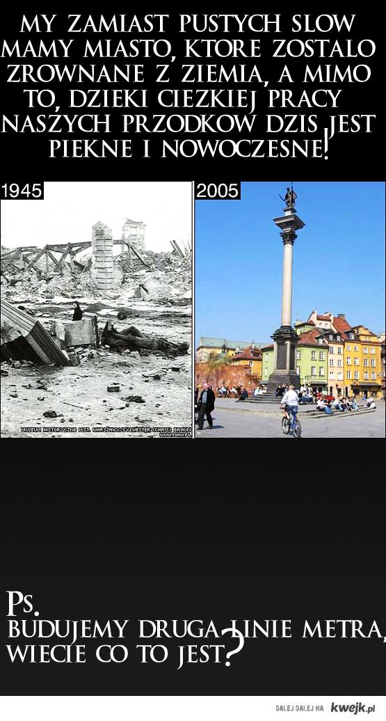 Warszawa po 60latach ma wiecej niz wy po 1000