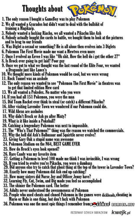 Kilka faktów o pokemonach