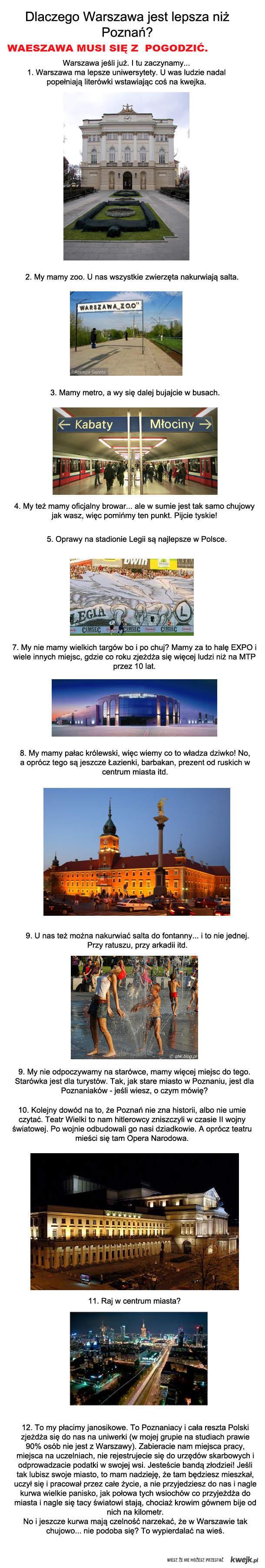 Warszawa a Poznan