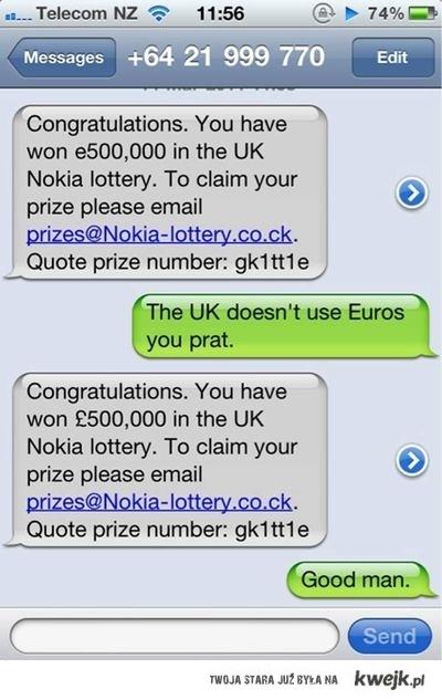 te loterie...