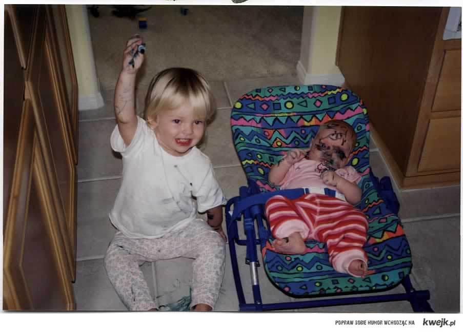 Dzieci i markery