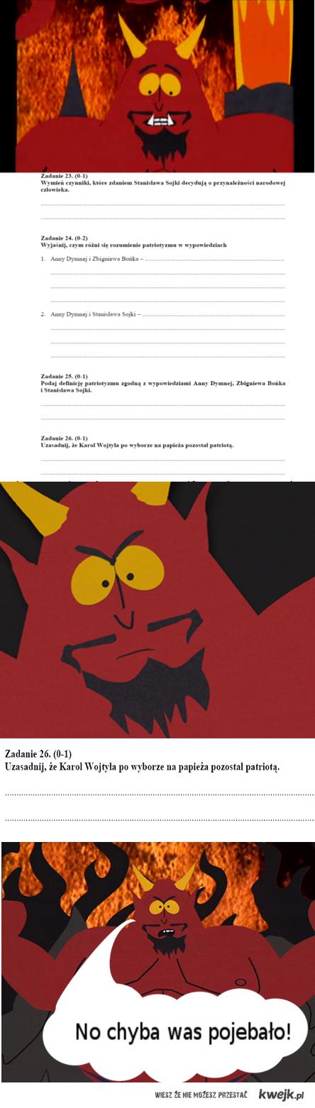Szatan's test