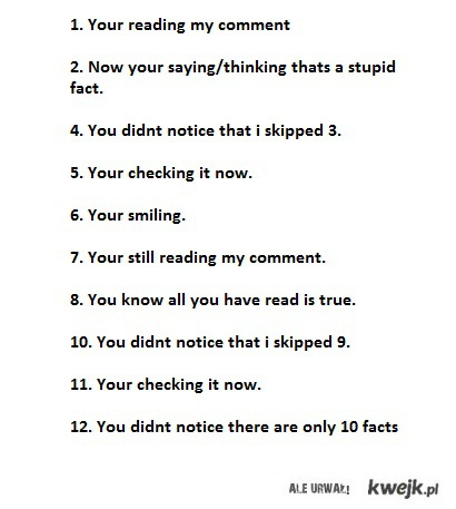 10 facts about you
