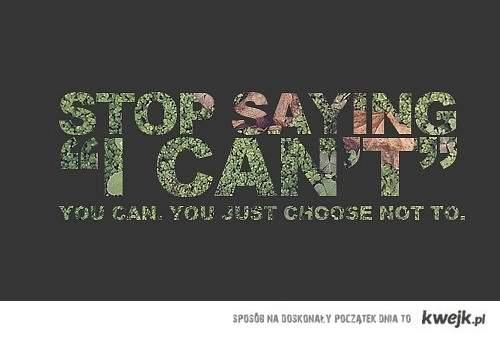 stop saying