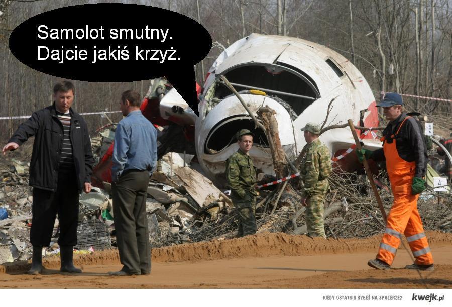 samolot smutny