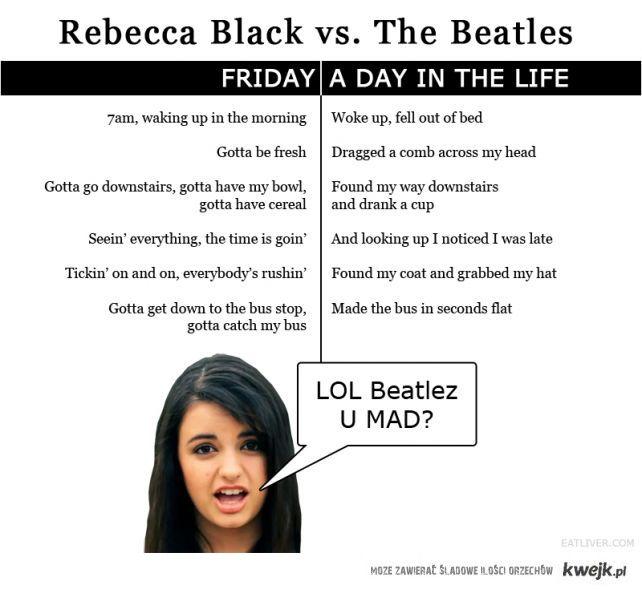 rebecca black vs the beatles