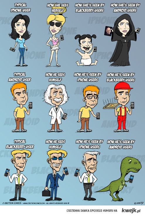 iphone - blackberry - android