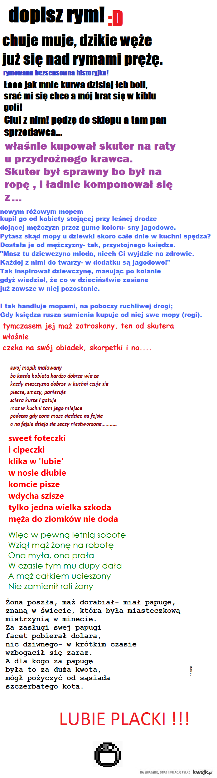 wierszyk melepety