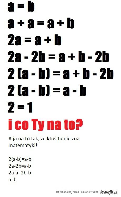 Ktoś tu nie zna matematki