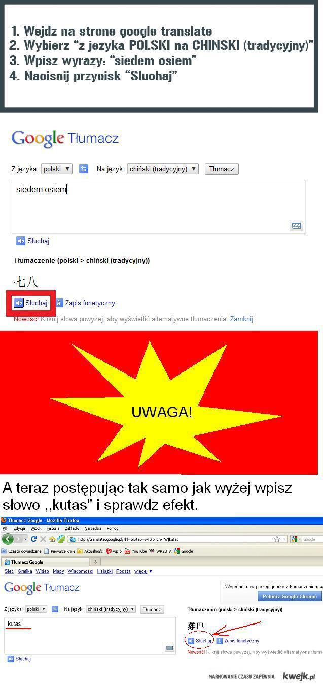 Tłumacz Google cz.2
