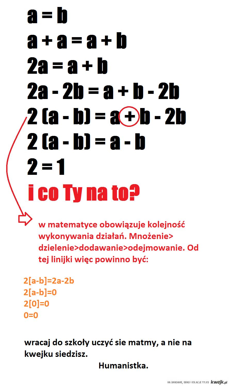 naucz się liczyć..