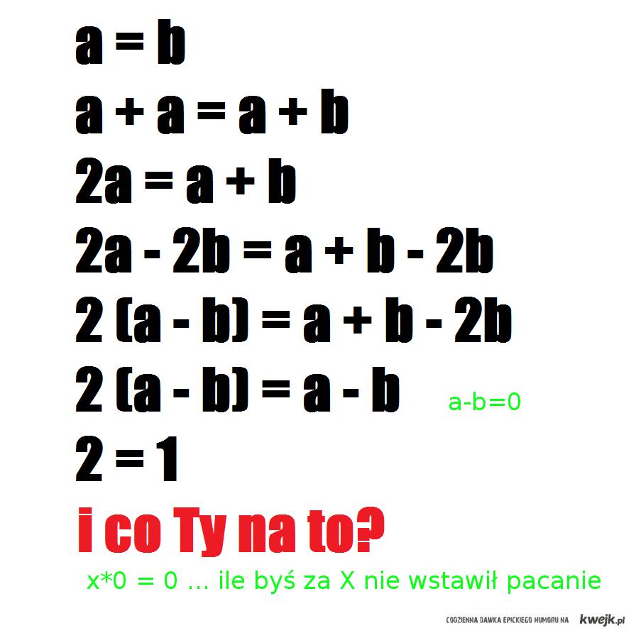 taka prosta ta matematyka ...