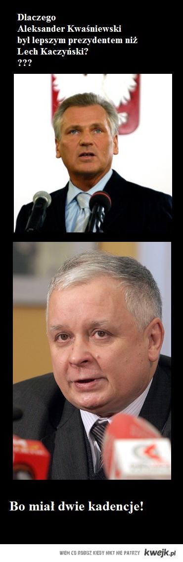 Dlaczego Aleksander Kwaśniewski był lepszym prezydentem niż Lech Kaczyński?