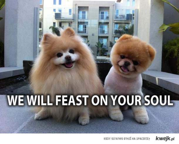 we will feast on your soul