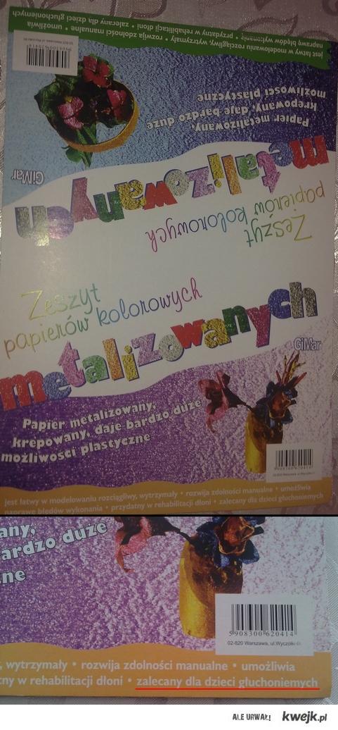 Kolorowy papier dla głuchoniemych
