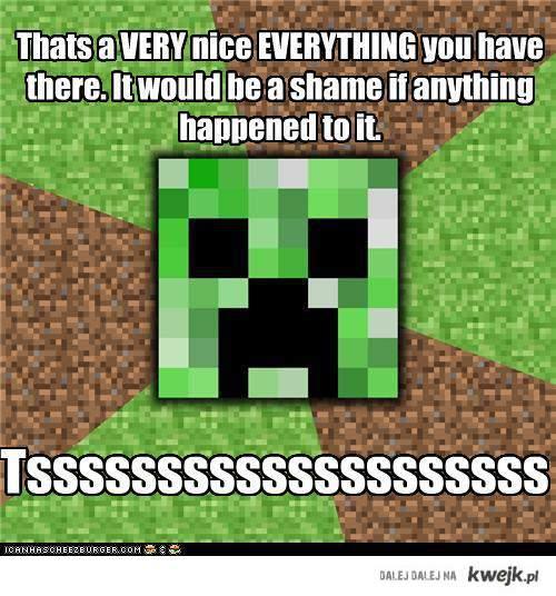 Minecraft Creeper. Beware !!!